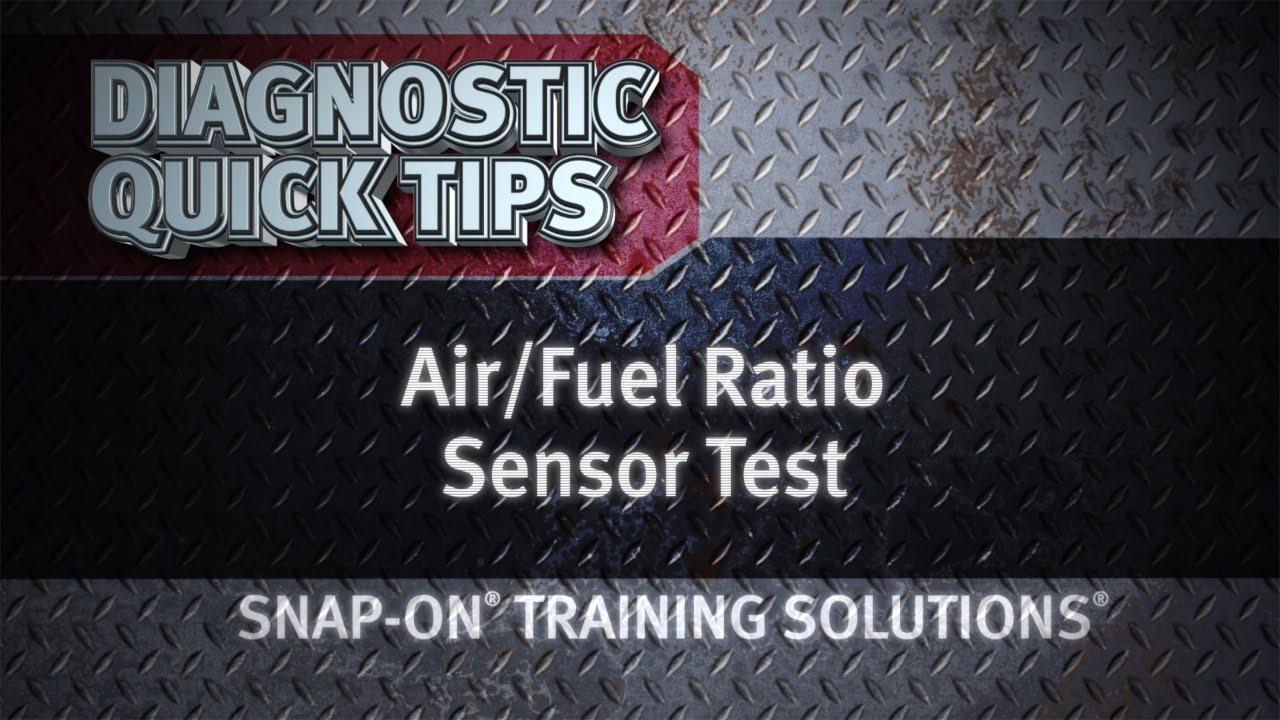 medium resolution of air fuel ratio sensor test diagnostic quick tips snap on training solutions youtube
