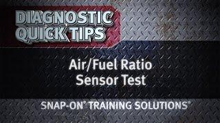 Air/Fuel Ratio Sensor Test- Diagnostic Quick Tips | Snap-on Training Solutions®