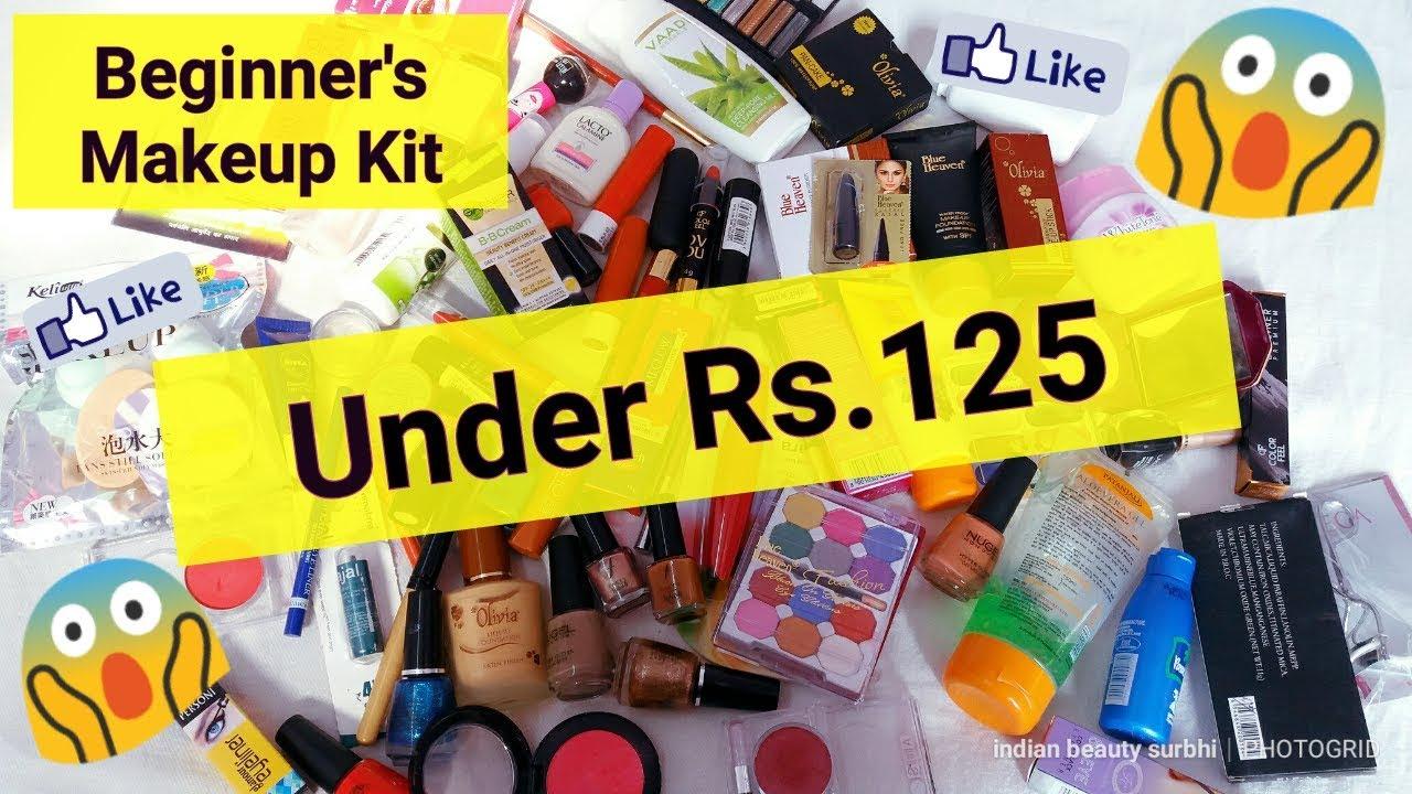 BEGINNERS Makeup Kit Under Rs.125 || Most Affordable Makeup Starter Kit for BEGINNERS ||. Indian Beauty Surbhi