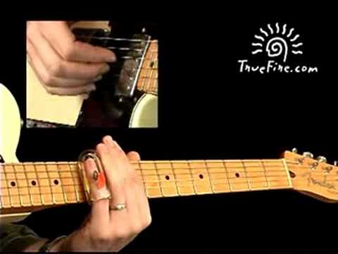 Slide Guitar Lesson  Shuffle in the key of  D: Rhythm Guitar, Part 2  David Hamburger