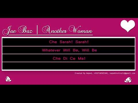 Jae Baz - Another Woman - lyrics