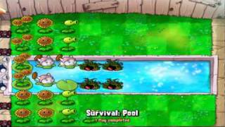 let s play plants vs zombies survival pool part 1