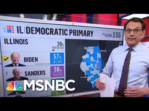 Kornacki On Illinois: 'Blue Collar Voters Swinging Dramatically Away From Bernie Sanders' | MSNBC