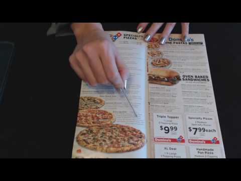 ASMR Soft Spoken ~ Pizza Restaurant Menu Review w/Pointer ~ Southern Accent