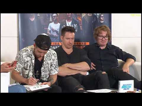 OneRepublic live @ QQ Music (part 3): Chinese calligraphy game