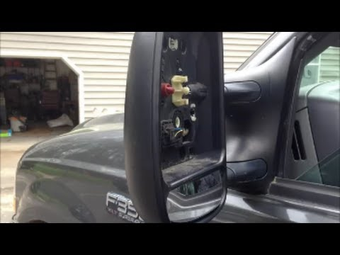 Tow Mirror Repair Ford Superduty 99 Amp Up Truck Youtube