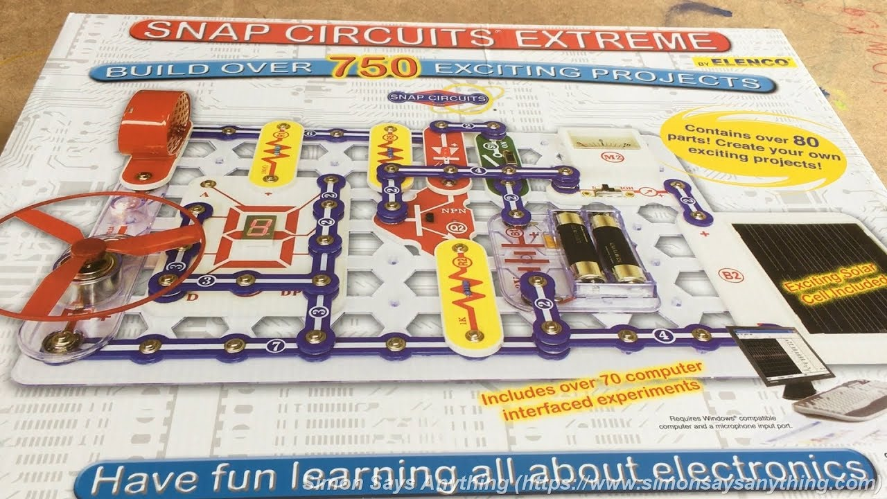 Snap Circuits Extreme 750 Experiments Modern Design Of Wiring 750in1 Kit W Computer Interface Click To Sc Review Youtube Rh Com Part