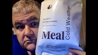 I try a Cold Weather MRE Menu 6 Seafood Chowder (complete mre food review)