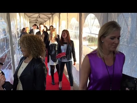 Alice Cooper walks the Red Carpet at the Rock and Roll Hall of Fame