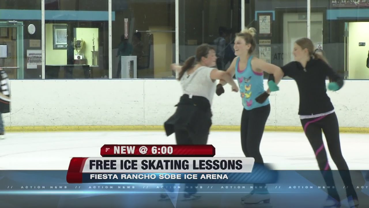 Fiesta Rancho Sobe Ice Arena Offers Free Ice Skating Lessons Youtube