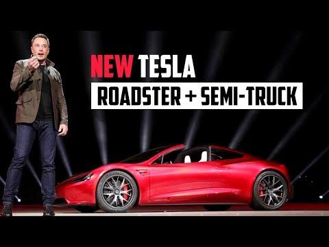 NEW Tesla Roadster - Tesla 2020 Presentation Highlights (Tesla Roadster + Tesla Semi-Truck) HD