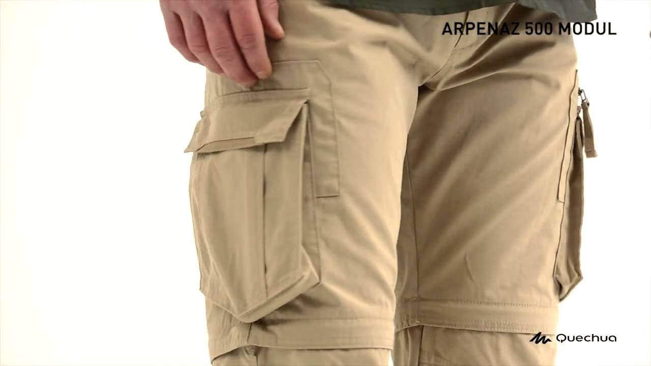 5ed0764897 Arpenaz 500 Men's Convertible Trekking Trousers. Decathlon India