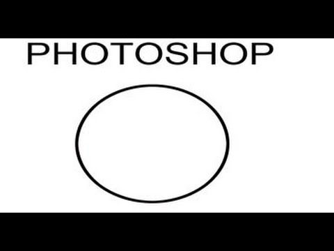 How to draw unfilled circles or rectangles in photoshop - YouTube