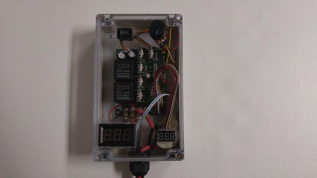 DIY Kayak Trolling Motor PWM Power Voltage Amp Output Meter Box