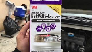 RESTORE YOUR HEADLIGHTS FOR LESS THAN $10 (3M Medium Duty Headlight Restoration Kit) [4K]