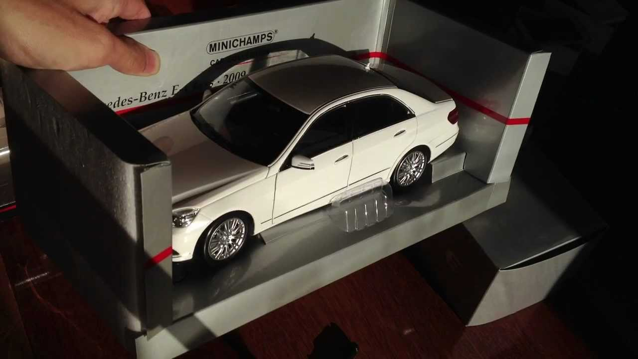 Minichamps White Mercedes Benz E Class 2009 Sedan 1 18