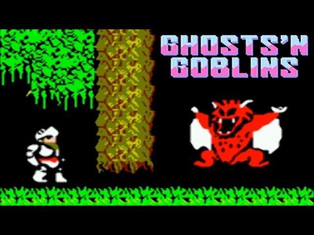 Ghosts n Goblins / Ghostly Village / Makaimura прохождение (NES, Famicom, Dendy)