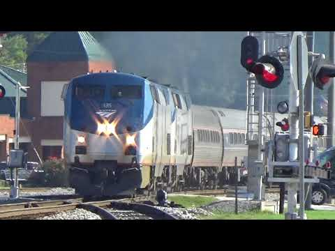 The Amtrak Crescent #19 With Dover Harbor Private Car! Austell,Ga 10-12-2017©