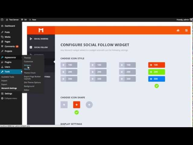 How To Use The Social Follow Widget In Monarch
