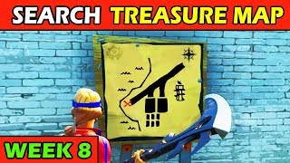 Search the Treasure Map Signpost Found in Paradise Palms! (Follow Treasure Map) Fortnite Week 8