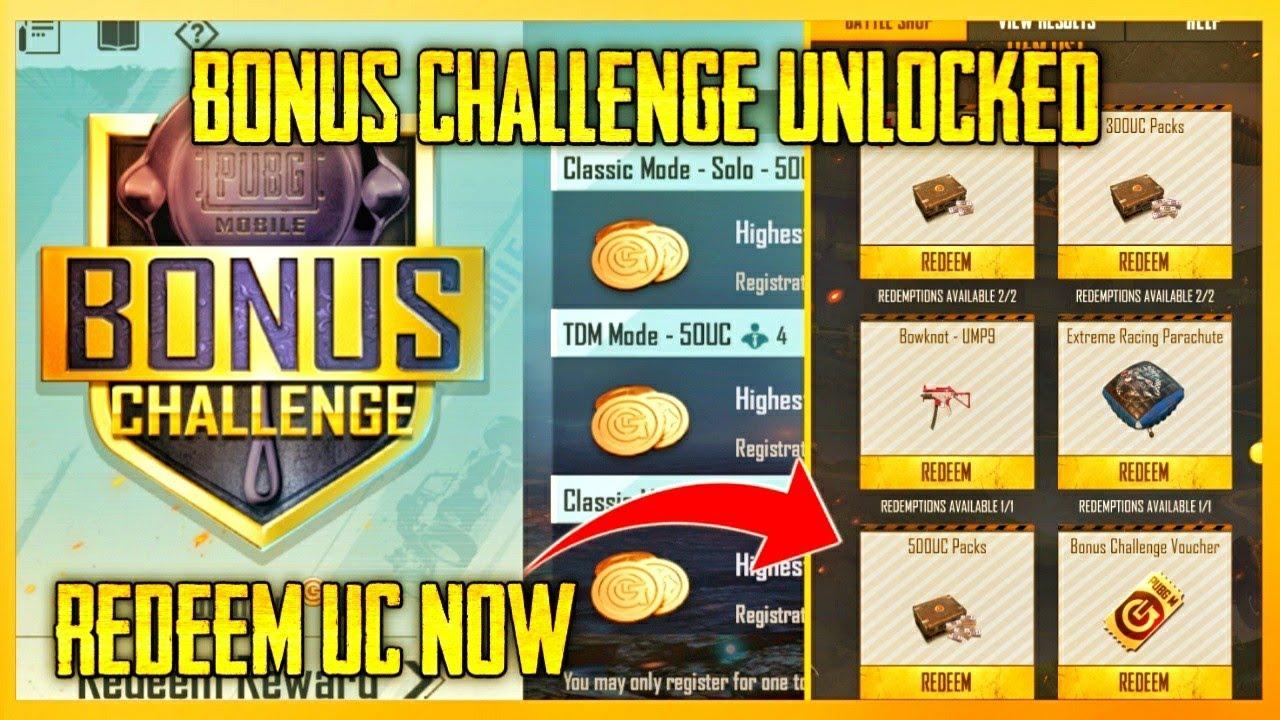 BONUS CHALLENGE UNLOCKED ! Redeem Your UC Now / Kumari Gamer