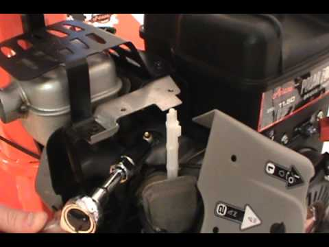 changing the spark plug - ariens two stage snow blower