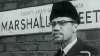 Malcolm X visits Marshall Street in Smethwick, Birmingham, UK