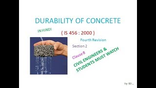 Durability Of Concrete ( IS 456 : 2000 ) Clause 8 Section 2