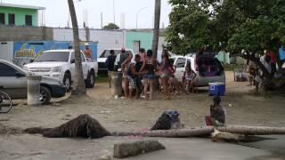 Con venezolanos en Chichiriviche, Falcón, Venezuela