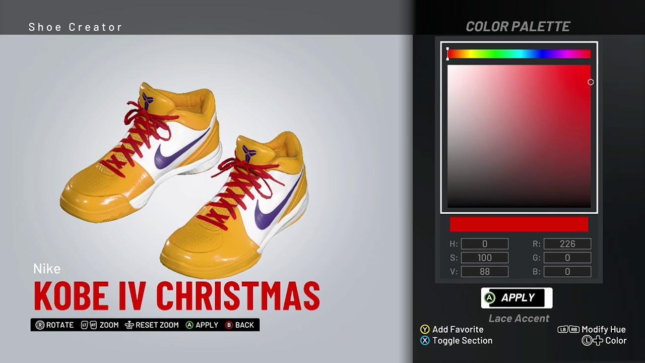 NBA 2K19 Shoe Creator - Nike Kobe 4