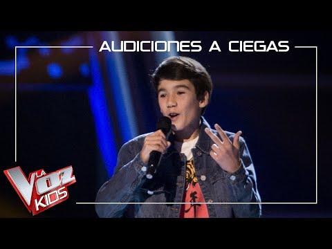 Luis Giménez canta 'Treasure' | Audiciones a ciegas | La Voz Kids Antena 3 2019