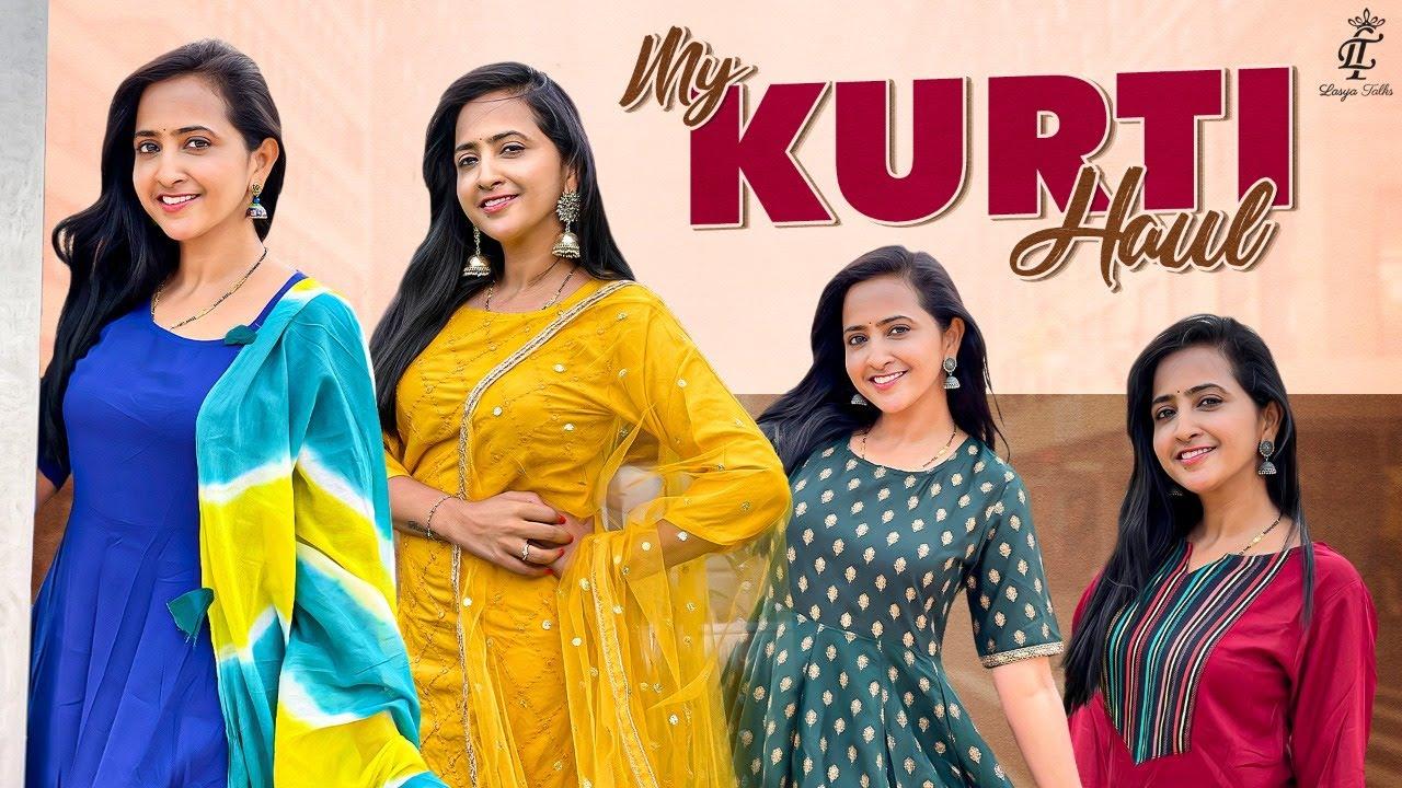 Lasya Talks    My Kurti Haul    Online Shopping 🛍    My Kurti Collection     Lasya's Latest Video