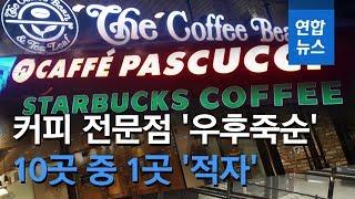 커피 전문점 전국 7만1천개…10곳 중 1곳 '…