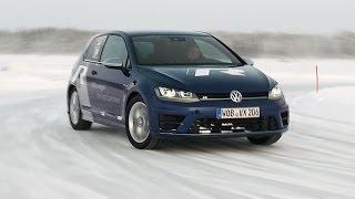 Ice test Volkswagen Golf R (English subtitled)