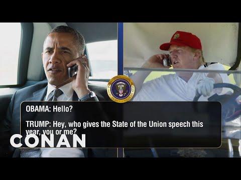 Donald Trump Keeps Calling Barack Obama  - CONAN on TBS