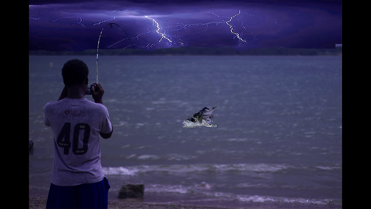 Fishing in thunderstorm joe pool lake fishing pt 3 for Joe pool lake fishing report