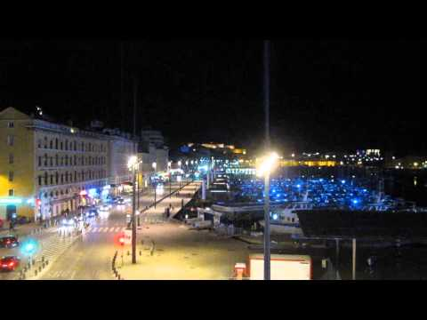 Night at Vieux Port Marseille France relaxing video