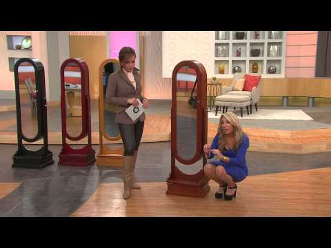 Gold & Silver Safekeeper Oval Spinning Jewelry Cabinet by Lori Greiner with Lisa Robertson