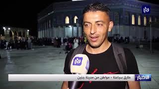 آلاف المصلين يؤدون صلاة التراويح في رحاب المسجد الأقصى المبارك - (18-5-2019)