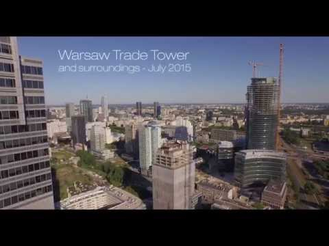 WTT and sourroundings. Warsaw Trade Tower filmed with drone