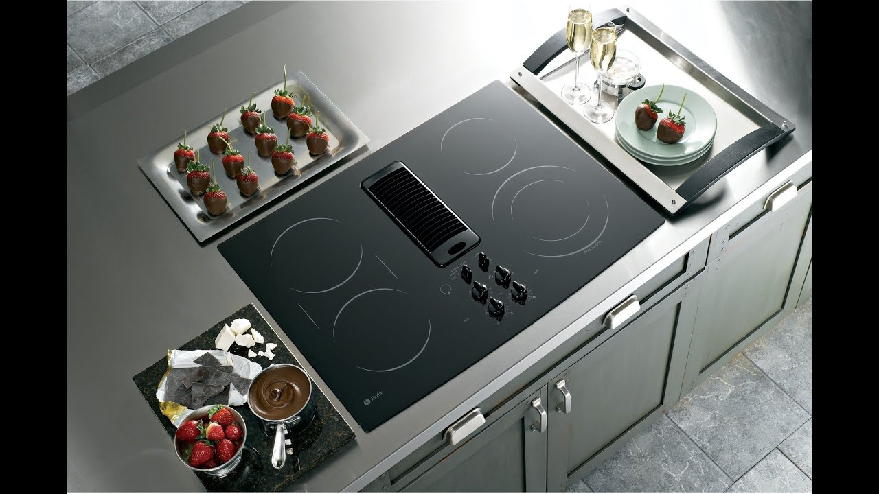 Goedeker's  Ge Pp989dnbb Profile Series Electric Downdraft Cooktop   Youtube
