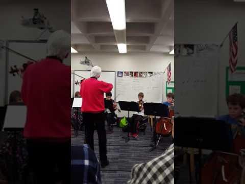 Fiddle club in Bellerive Elementary school, St Louis, MO Dec. 17, 2016