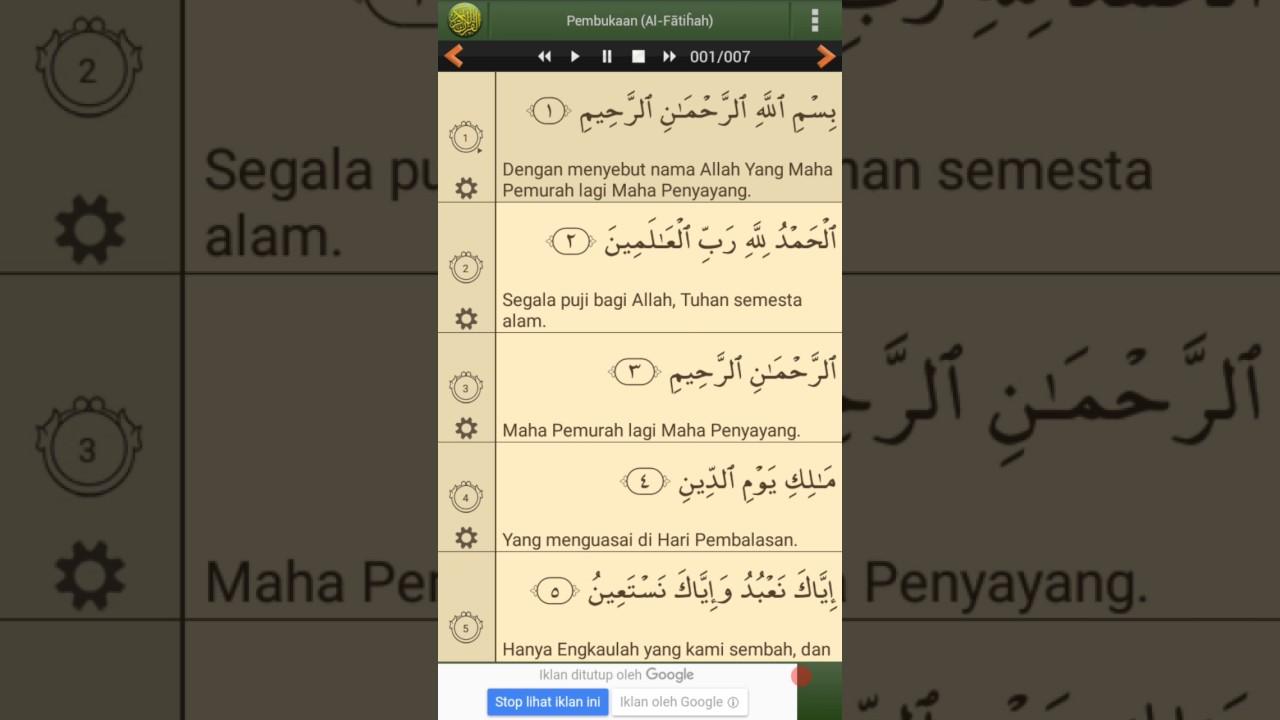Surat Al Fatihah Beserta Artinya Bahasa Indonesia