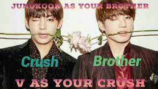 Video BTS IMAGINES | V HAS A CRUSH ON YOU AND JUNGKOOK AS YOUR BROTHER download MP3, 3GP, MP4, WEBM, AVI, FLV Juli 2018