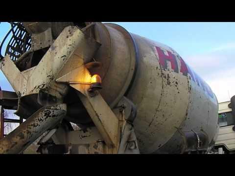 Concrete mixer load drop