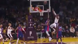 LeBron James INBOUND DUNK, 35 years old not slowing down