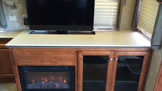 Custom Rv Tv, Fireplace & Storage Cabinet. A Coach Supply Direct Rv Renovation.