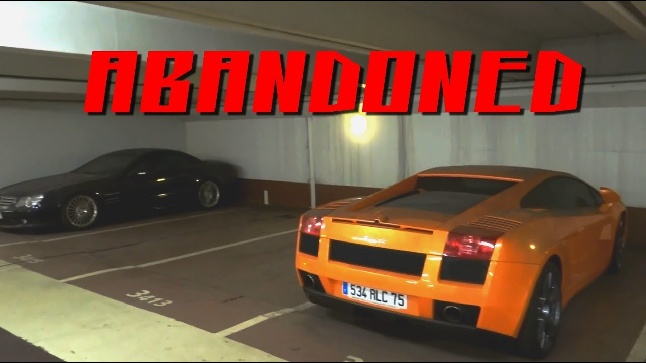 luxury car parking  1M $ ABANDONED Luxury Cars in parking of Paris - YouTube