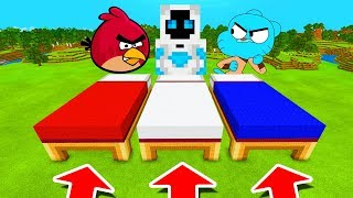 Minecraft PE : DO NOT CHOOSE THE WRONG BED! (Angry Birds, Entity 505 & Gumball)
