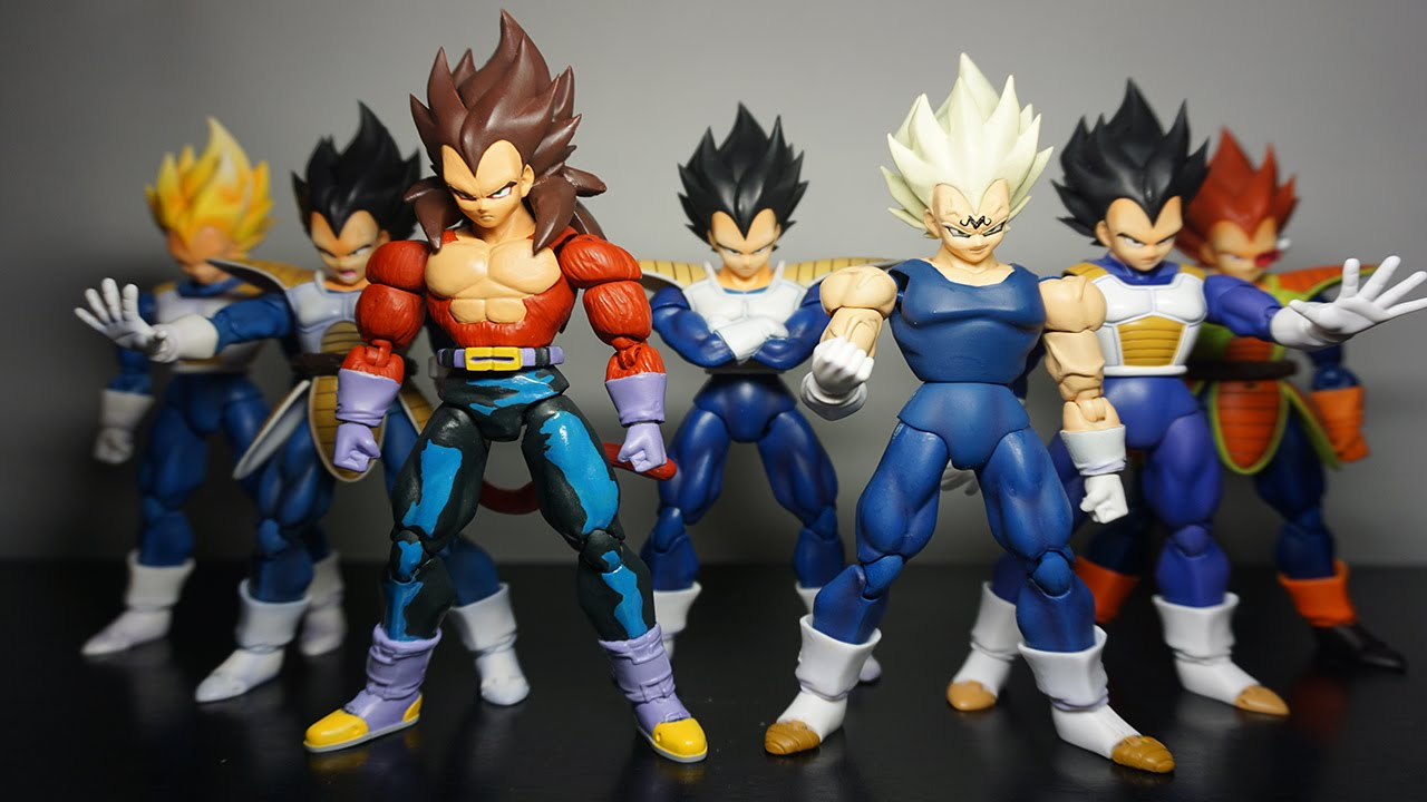 Vegeta 39 s forms and transformations sh figuarts youtube - Vegeta all forms ...